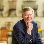 Brock Jobe is a Professor of American Decorative Arts at the Winterthur Museum.<br /> Jobe teaches graduate courses in historic interiors, American decorative arts, and twentieth-century design. He assumed his current position in October 2000 after a twenty-eight-year career as a museum curator and administrator. His previous posts included those of research assistant at the Museum of Fine Arts, Boston, curator of exhibition buildings at Colonial Williamsburg, chief curator at the Society for the Preservation of New England Antiquities (now Historic New England), and deputy director for collections, conservation, and interpretation at Winterthur. In his present role, he mentors students in the Winterthur Program in American Material Culture, advises theses, teaches, leads field trips, and helps place students after graduation. He is also a frequent lecturer at museums, antiques shows, and collectors' clubs throughout the country. Tuesday, 5 Feb. 2013. Photograph by JIM GRAHAM
