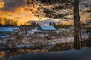winter sunset,light on deserted mill,Ben Bolt,lumen-essence.com