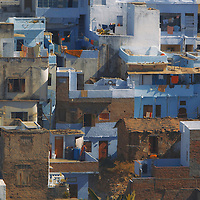 Colorful houses in Udaipur, Rajasthan, India.