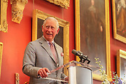 Repro Free No Charge for retro<br /> 11-5-17<br /> HRH Prince Charles pictured in Kilkenny Castle during his visit to the City yesterday.<br /> <br /> Picture Dylan Vaughan.
