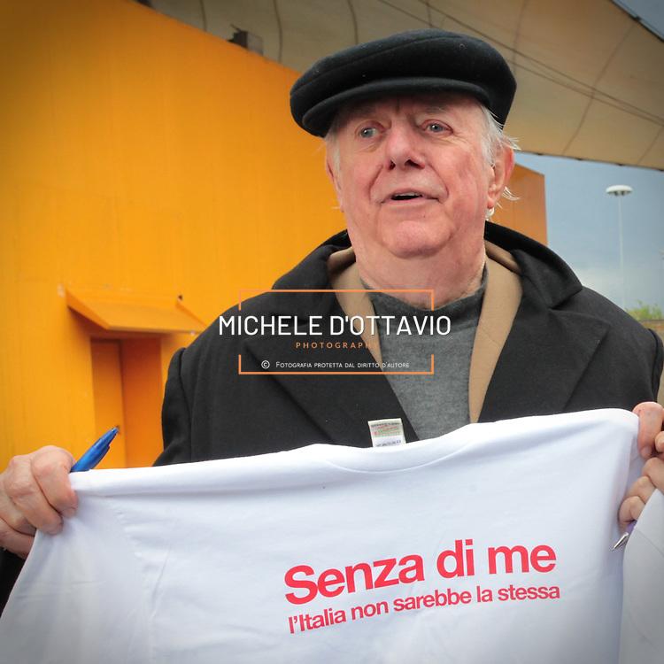 Dario Fo al Salone del libro di Torino il 14 maggio 2010