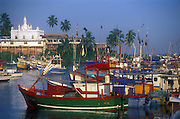 Beruwela Fishing harbour.
