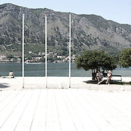An old monument in Kotor.There are several arguments about the derivation of the name  &quot;Montenegro&quot;, one of these relates to dark and deep forests  that once covered the Dinaric Alps, as it was possible to see them from the sea. <br />