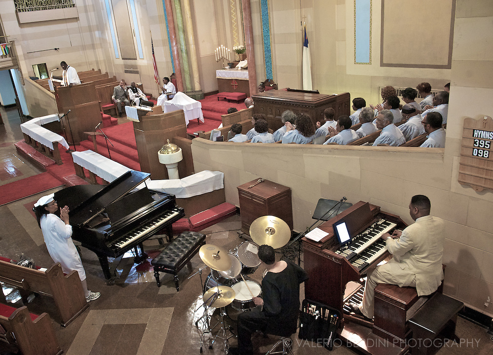 Sunday gospel at the Salem United Methodist Church in Harlem.