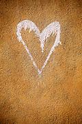 Found on an adobe wall in Santa Fe, New Mexico.