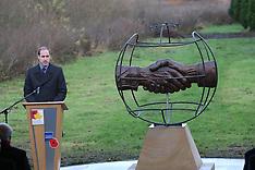 DEC 12 2014 Duke of Cambridge at the National Memorial Arboretum