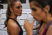 Miss Norway and Miss Trinidad and Tobago<br /> Each contestants goes through gruelling fitness tests to see who makes it through to the sports finals