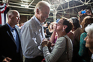 Vice President Joe Biden greets audience members after a campaign rally at the Port of Burlington during a two-day campaign swing through Iowa on Monday, September 17, 2012 in Burlington, IA.