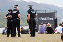 Police..Rockness, Sunday, 12th June 2011..RockNess 2011, the annual music festival which takes place in Scotland at Clune Farm, Dores, on the banks of Loch Ness near Inverness..Pic ©2011 Michael Schofield. All Rights Reserved..