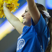 11/11/11 Newark DE: Delaware Cheerleader during a week one NCAA Women's College basketball game, Friday, Nov. 11, 2011 at the Bob carpenter center in Newark Delaware.<br /> <br /> Delaware would go on to defeat the Rhode Island rams 89-53.<br /> <br /> Special to The News Journal/SAQUAN STIMPSON