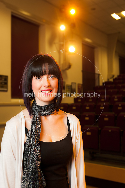 Howden East Yorkshire, December 21, 2011. Pictured Sarah Hardcastle, manager of The Shire Hall, shown in the upper hall set up as a cinima