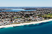 Aerial photographs of Cottesloe, North Cottesloe, Claremont, Pepermint Grove, Mosman Park, Fremantle, Henderson, Carnac Island, Perth city
