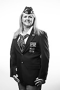 Darlene D. Tryon<br /> Air Force<br /> E-7<br /> Aircraft Electrician, Finance, Chaplain's Assistant, Security Forces, Inspector General<br /> 1997-2005<br /> Korea, Cuba, OEF, OIF<br /> <br /> Veterans Portrait Project<br /> Louisville, KY<br /> VFW Convention <br /> (Photos by Stacy L. Pearsall)