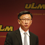 University of Louisiana at Monroe alumus Eric Liew announces the &quot;The Liew Family International Student Center&quot; on the campus of ULM during a press conference at the ULM on Monday, Jan. 6, 2014.<br /> Photos by: Terrance Armstard/ULM Photo Services