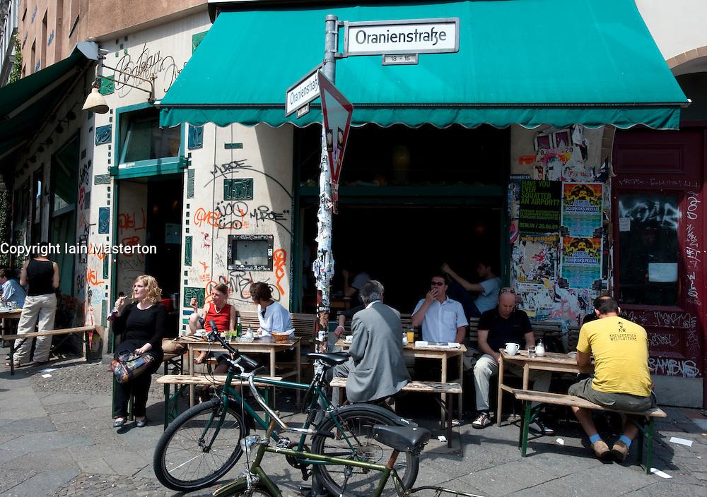 Typical bohemian cafe on Oranienstrasse in Kreuzberg Berlin 2009