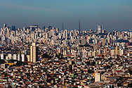 Sao Paulo, Brasil, August 15 of 2007: Aerial view of Sao Paulo downtown. Photo: Caio Guatelli