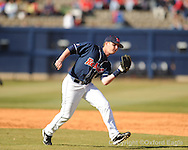 Mississippi shortstop Kevin Mort vs. Oakland in Oxford, Miss. on Saturday, February 27, 2010. Ole Miss won 10-2.
