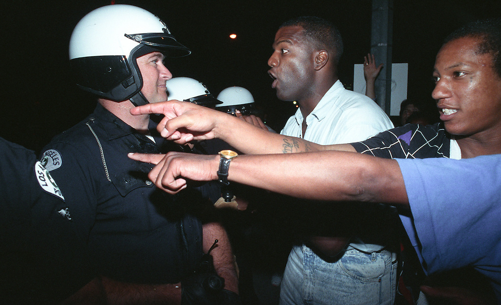 Riots erupt in Los Angeles on April 29, 1992 following the not guilty verdicts in the first Rodney King beating trial. PLEASE EMAIL LEGAL[AT]TODDBIGELOWPHOTOGRAPHY.COM WITH LICENSING REQUESTS.