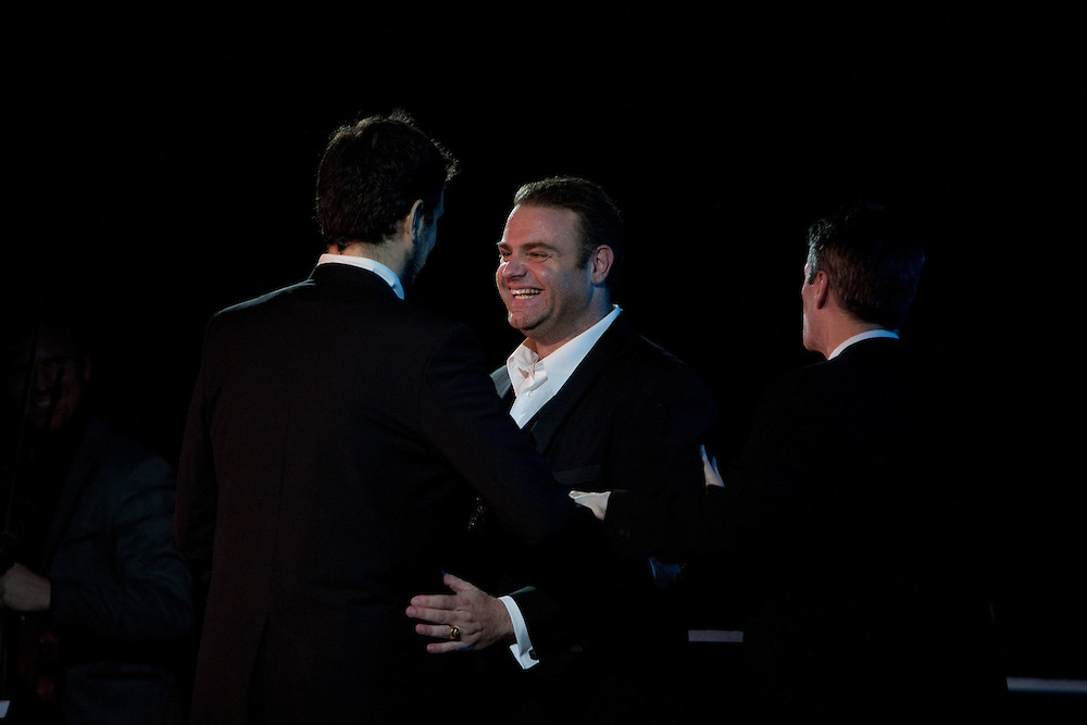 Tenor Joseph Calleja after performing with Luca Pisaroni, bass-baritone, at Le Poisson Rouge on October 24, 2011.