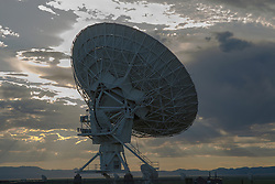 large array against a dramatic sky in New Mexico