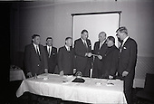 1965 - Presentation of funding by W.D. & H.O., Wills to Glenageary Horse Show Committee