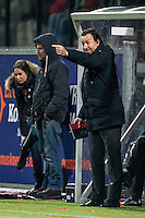 ROTTERDAM - SBV Excelsior - Feyenoord , Voetbal , Seizoen 2015/2016 , Eredivisie , Stadion Woudestein , 28-11-2015 , Feyenoord assistent trainer Jean-paul van Gastel coacht vanuit de dugg-out
