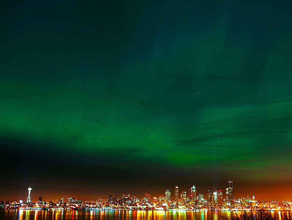 Northern Lights Skyline The Northern Lights Shimmer