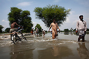 Residents of outlying villages in the district of Muzzafargarh continue to evacuate villages as flood waters continued to cause havoc in South Punjab...