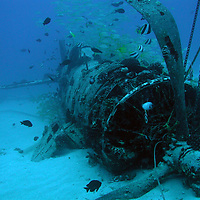 An F4U Corsair, which ran low on fuel and ditched in 1946 off of Oahu, HI.