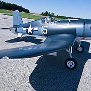 08/22/11 Toughkenamon PA: Scale model F4U Corsair at New Garden Airport Monday, Aug. 22, 2011 in Toughkenamon Pennsylvania...Monsterphoto/SAQUAN STIMPSON