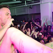 NEW YORK - JUNE 26:  Ninja of Die Antwoord performs onstage as part of VICE & Intel's The Creator Project at Milk Studios on June 26, 2010 in New York City.  (Photo by Roger Kisby)