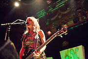 Kim Gordon of Sonic Youth performs on October 4, 2010 at the Ogden Theater in Denver, Colorado.