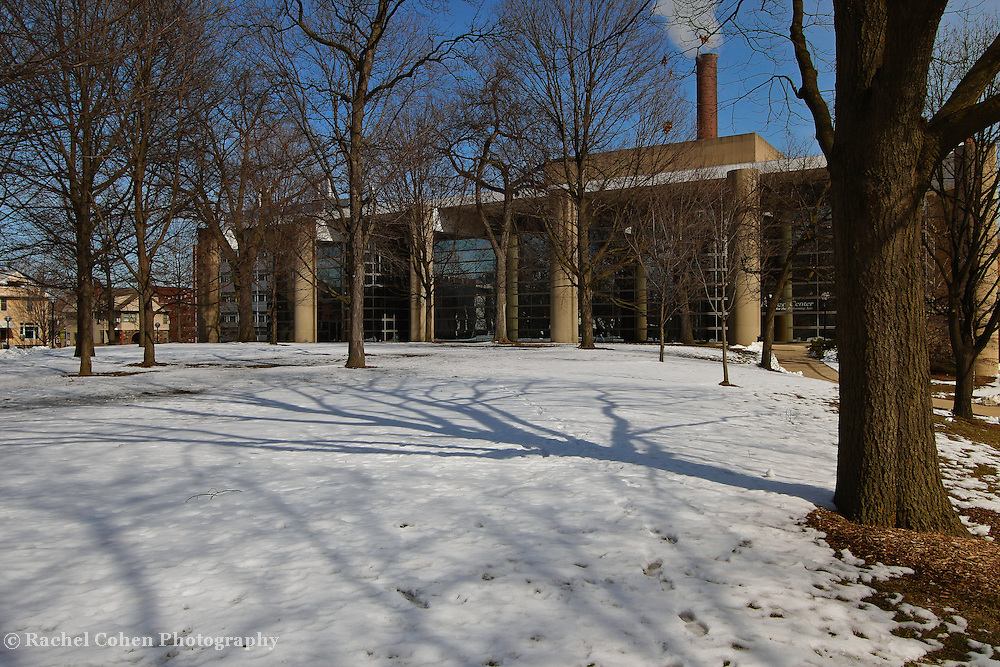 &quot;Smoke and Shadows&quot;<br /> <br /> A wonderful winter image of the Power Center for Performing Arts, and it's surroundings on the campus of the University of Michigan in Ann Arbor!!<br /> <br /> Architecture: Structures, buildings and their details by Rachel Cohen