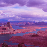 Gunsight Butte dominates this view of Lake Powell.
