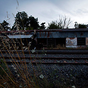 The old train station in Orestiada was burnt down by illegal immigrants after using it as a shelter until they were processed and sent to Athens.