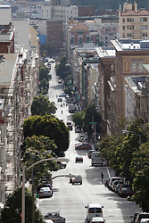 Hilly street in San Francisco.