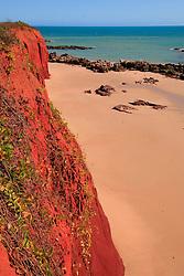 Pindan cliffs meet the beach at James Price Point on the Dampier Peninsula