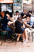 Noodle stall, Central, Hong Kong.