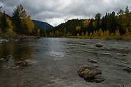 Middle Fork of Flathead River, southern border of Glacier National Park, Montana