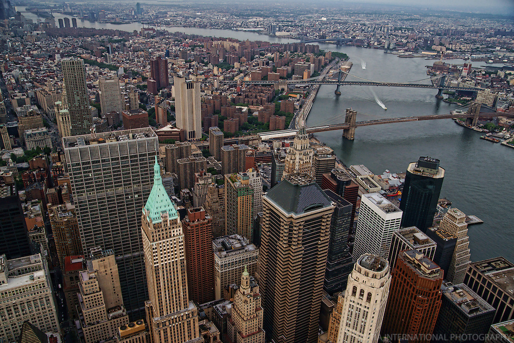 Lower Manhattan featuring Brooklyn & Manhattan Bridges over East River