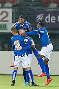 ROTTERDAM - Sparta Rotterdam - Helmond Sport , Voetbal , Seizoen 2015/2016 , Jupiler league , Sparta stadion het Kasteel , 27-11-2015 , Spelers Helmond vieren de 0-1