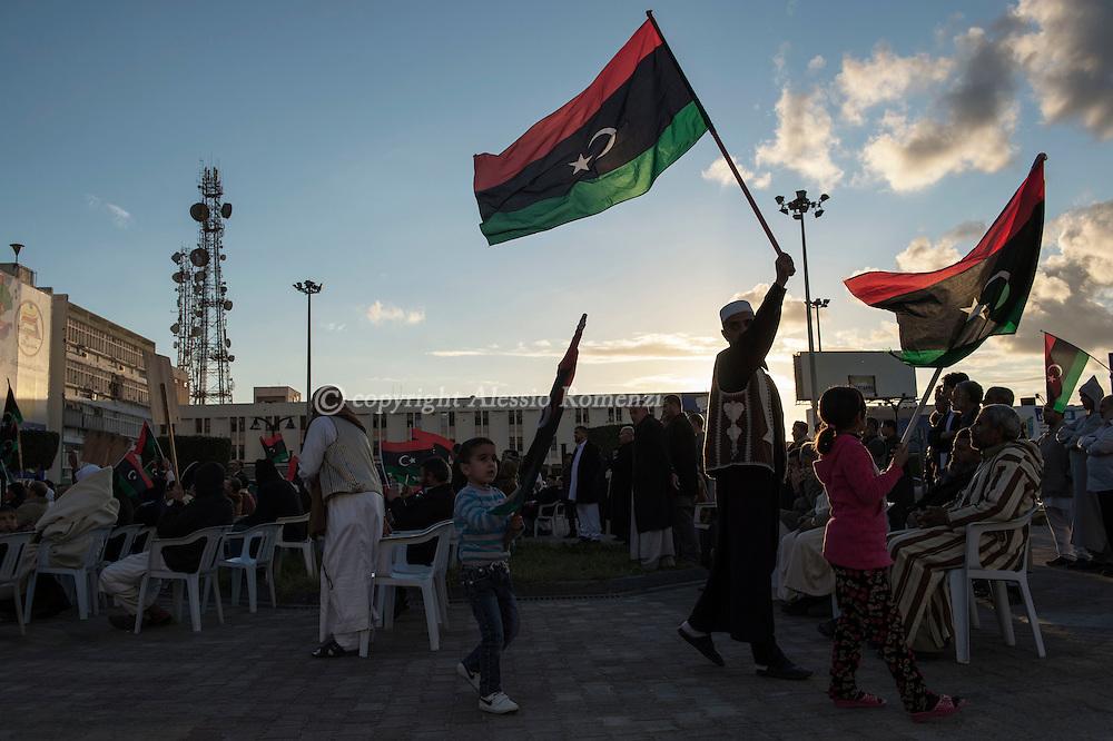 Libya, Misurata: Demonstration against the unity government in central Misurata. Alessio Romenzi