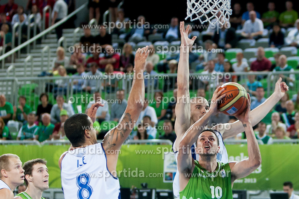 Bostjan Nachbar of Slovenia during basketball match between National teams of Finland and Slovenia in 2nd Round at Day 13 of Eurobasket 2013 on September 14, 2013 in SRC Stozice, Ljubljana, Slovenia. (Photo By Urban Urbanc / Sportida)