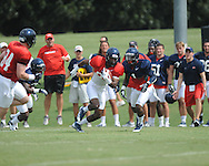 Ole Miss wide receiver Ja-Mes Logan (85) at football practice in Oxford, Miss. on Sunday, August 4, 2013.