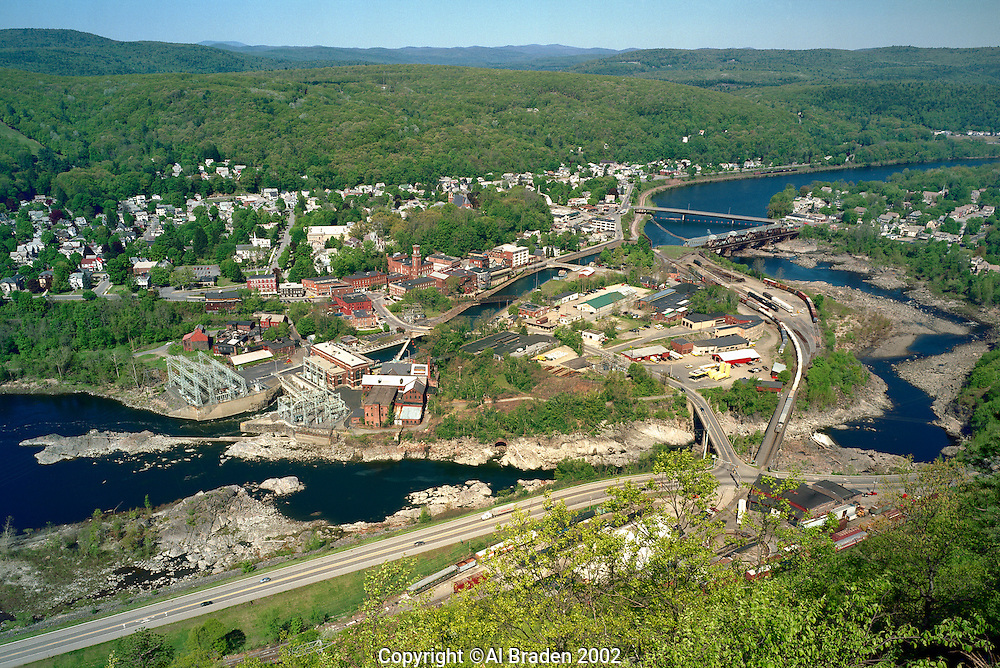 Bellows Falls, VT and the Connetcitut River from Table Rock, Fall Mountain, NH
