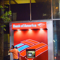 Bank of America signage, downtown Charlotte, NC