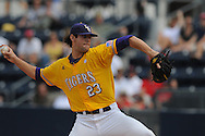 LSU's Anthony Ranaudo pitches vs. Mississippi  in a college baseball in Oxford, Miss. on Saturday, April 23, 2010. (AP Photo/Oxford Eagle, Bruce Newman)