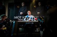 OSLO, NORWAY, 20131113: Boklansering his Juritzen forlag. Fremskrittpartiets Per Sandberg lanserte boken &quot;Mot min vilje&quot;.<br /> FOTO: TOM HANSEN