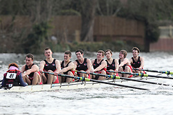 2012.02.25 Reading University Head 2012. The River Thames. Division 1. Coalporters Rowing Club IM3 8+