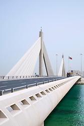 Sheikh Isa bin Salman Causeway Bridge, linking  Manama and Muharraq Island in Kingdom of Bahrain